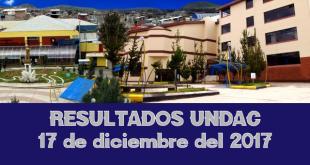 Resultados admisión UNDAC 17 de diciembre del 2017