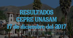 resultados CEPRE UNASAM 17 de diciembre del 2017