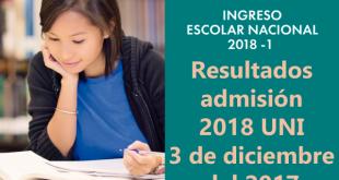 resultados UNI 3 de diciembre del 2017