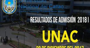 Resultados examen de admisión 2018 I UNAC 30 de diciembre del 2017