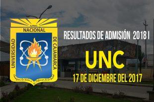 Resultados examen de admisión 2018 I UNC 17 de diciembre del 2017
