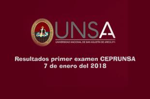 resultados CEPRUNSA 7 de enero del 2018