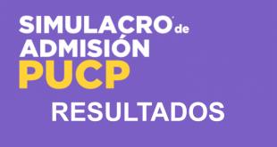 resultados simulacro pucp 28 de enero del 2018