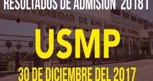 Resultados examen de admisión Universidad San Martin de Porres 28 de enero del 2018