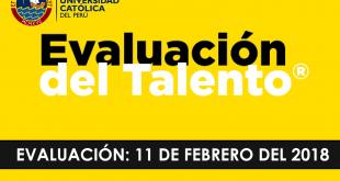 Resultado Evaluación de talentos PUCP 11 de febrero del 2018