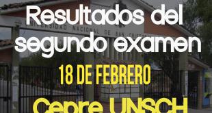 Resultados Segundo examen CEPRE UNSCH 18 de febrero del 2018