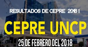 Resultados segundo examen CEPRE UNCP 25 de febrero del 2018