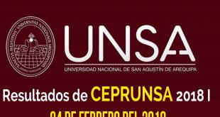 Resultados segundo examen CEPRUNSA 4 de febrero del 2018