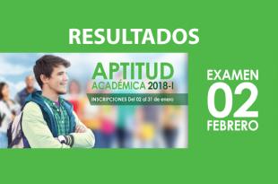 resultados aptitud academica ricardo palma 2 de febrero del 2018