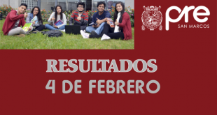 resultados tercer examen pre san marcos 4 de febrero del 2018
