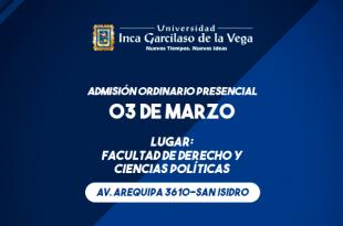 resultados examen de admisión inca garcilazo de la vega 3 de marzo del 2018