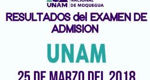 Resultados examen de admision 2018 I UNAM 25 de marzo del 2018