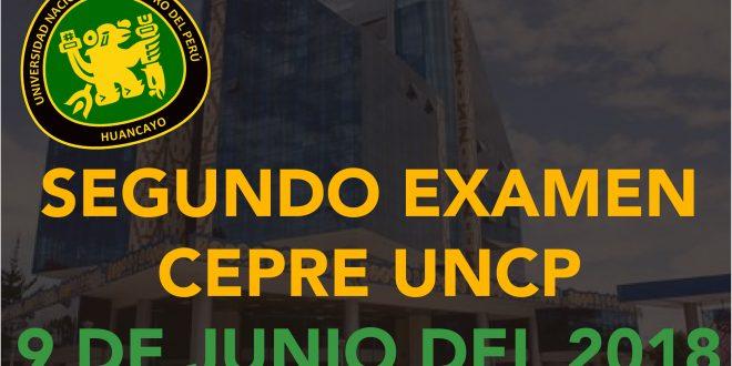 Resultados Segundo examen de CEPRE UNCP 9 de junio del 2018