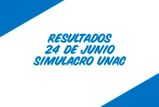 Resultados del simulacro de la UNAC 24 de junio de 2018