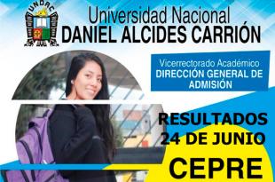 Resultados primer examen CEPRE I 2019 UNDAC 24 de junio 2018