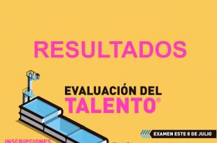 Resultados Evaluación de talento PUCP 8 de julio del 2018