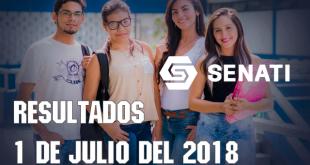 Resultados Prueba de aptitud SENATI 1 de julio 2018
