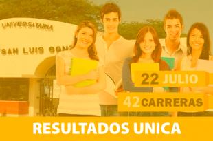 Resultados examen de admisión Universidad San Luis Gonzaga UNICA 22 de julio del 2018