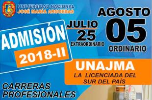 Resultados examen de admisión UNAJMA 5 de agosto del 2018