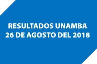 Resultados examen de admisión UNAMBA 26 de agosto del 2018