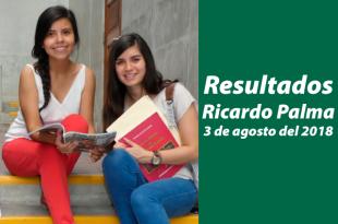 Resultados examen de admisión Universidad Ricardo Palma 3 de agosto del 2018