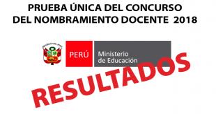 Resultados preliminares Prueba Única Nacional 23 de octubre del 2018
