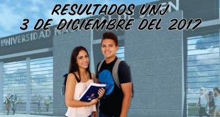 resultados UNJ 3 de diciembre del 2017